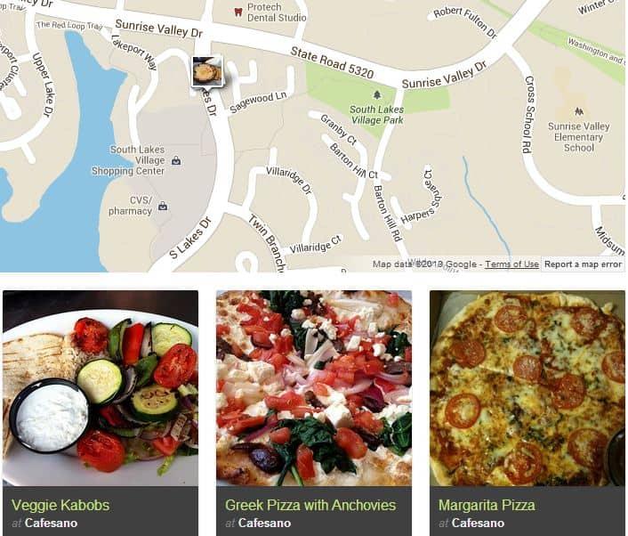screenshot of cafesano on foodspotting