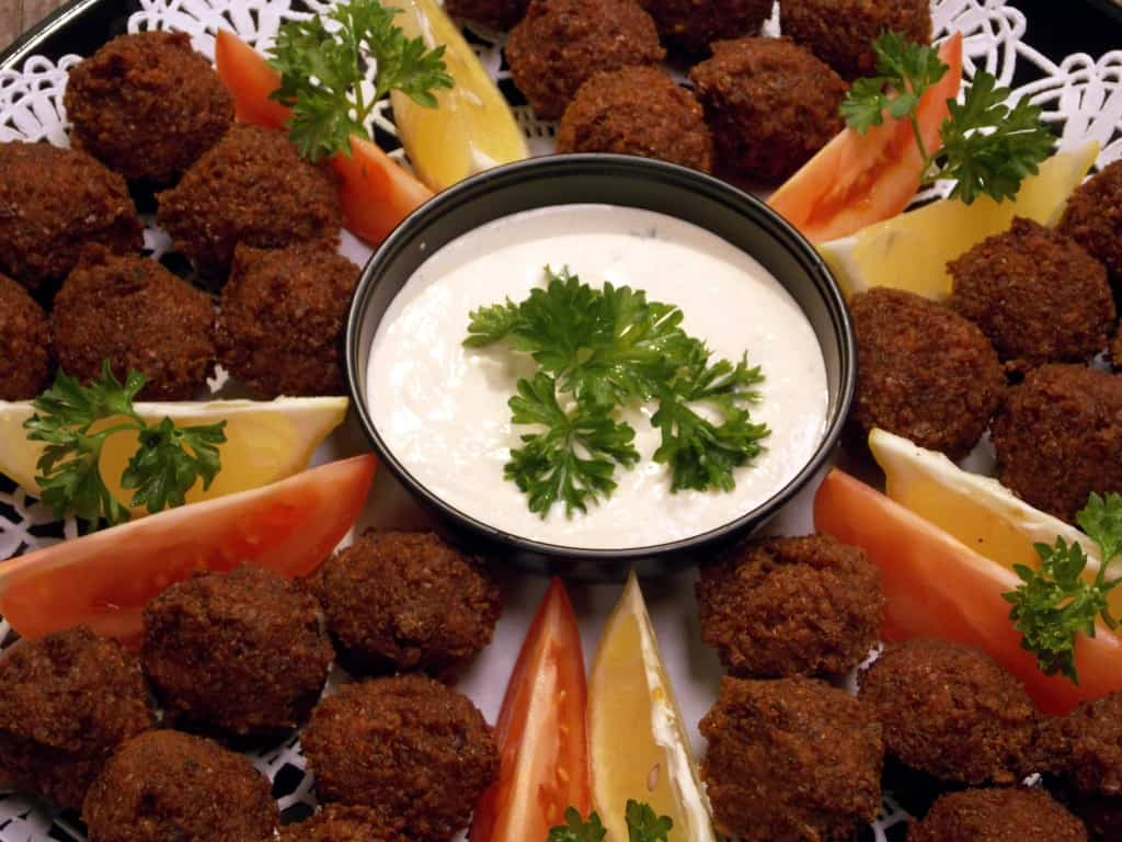 Falafel Catering Platter for Holiday Parties in Dulles Virginia