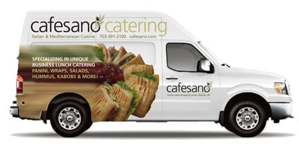 Cafesano Catering Van in Northern Virginia