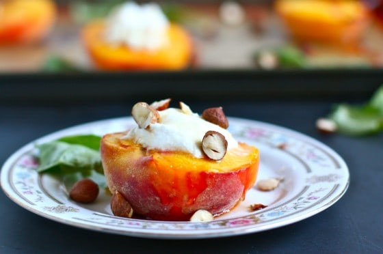 roasted peaches goat cheese recipe