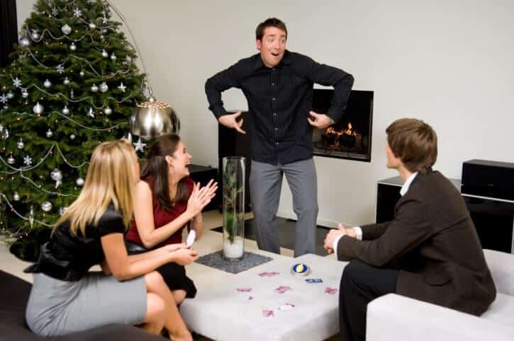 playing-charades-holiday-party-dulles-virginia