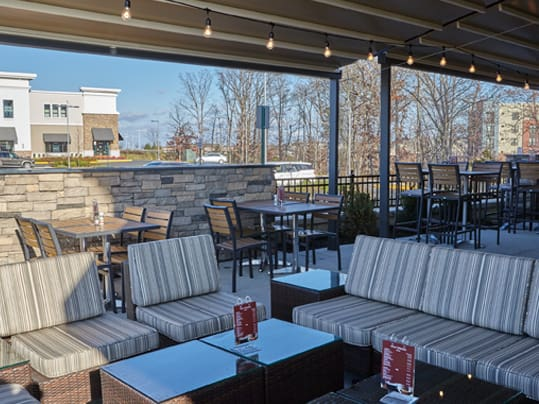 Large & Comfortable Patio Area at Dulles Town Center VA
